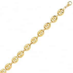 Bracelet en or 9 carats Grain de Café 6 mm - 5.95g Ashley
