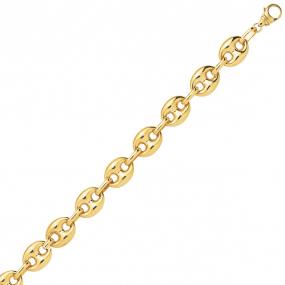 Bracelet en or 9 carats Grain de Café 7 mm - 7.25g Nastasia