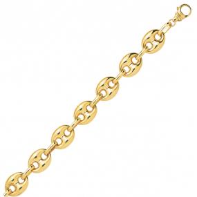 Bracelet en or 9 carats Grain de Café 8 mm - 9.35g Larisa