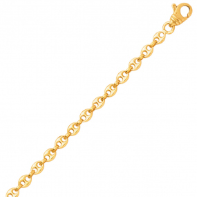 Bracelet en or Grain de Café 3.2 mm - 4.4g Élya