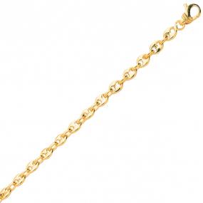 Bracelet en or Grain de Café 4 mm  - 6.6g Oriane