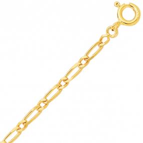 Bracelet en or jaune maille Alternée 2mm - 1.45g Alwena