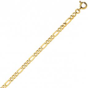 Bracelet en or jaune maille Alternée ultra-plate 2.5mm - 1.7g Diana