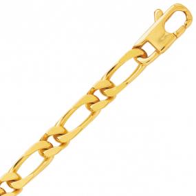 Bracelet en or maille Alternée 6 mm - 22.7g Mathilda