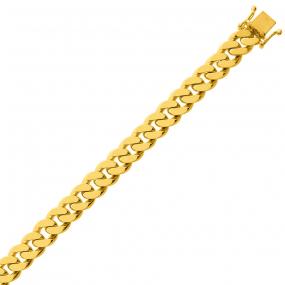 Bracelet en or maille Gourmette 7mm - 32.75g Valentina