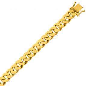 Bracelet en or maille Gourmette 8mm - 43.35g Usha