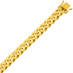 Bracelet en or maille Gourmette 9mm - 54.5g Uranie