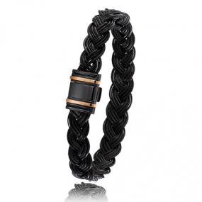 - Bracelet en Poils d'éléphant or PVD 0.45g - 13 mm Myrona - 698NTELORrose