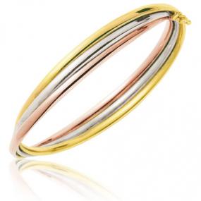 Bracelet jonc 3 ors soud�s 3 Ors 12.3 g Princesse