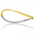 Bracelet jonc bicolore 2 Ors 2.7 g Jeanne