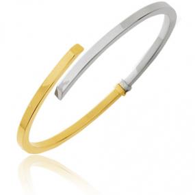 Bracelet jonc bicolore 2 Ors 3.3 g Alexandra