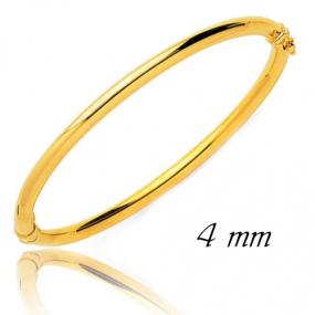 Bracelet Jonc or ouvrant 4 mm Or Jaune 4.75 g Aur�lie