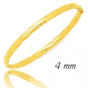 Bracelet Jonc or ouvrant 4 mm Or Jaune 12.45 g Mara