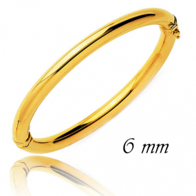 Bracelet Jonc or ouvrant 6 mm Or Jaune 11.6 g Pasionaria