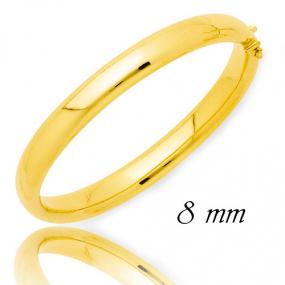 Bracelet Jonc or ouvrant 8 mm Or Jaune 25.1 g Valeria