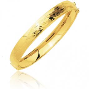 Bracelet jonc ouvrant sur charni�re or jaune Or Jaune 15.7 g Valentina