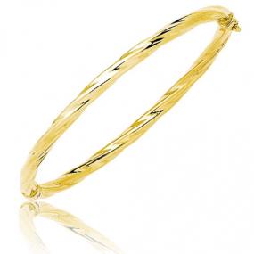 Bracelet jonc ouvrant torsad� or jaune Or Jaune 4.8 g Allissa