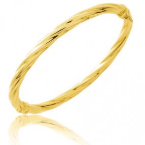 Bracelet jonc ouvrant torsad� or jaune Or Jaune 7 g Alexane
