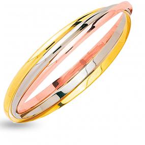 Bracelet joncs entrelac�s 3.5mm 3 Ors 23.75 g Rose