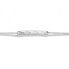 Bracelet Or Blanc Diamant Blanc - One More  - 055159-A