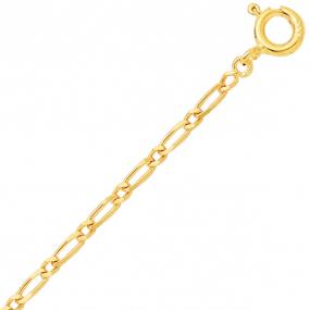 Chaine en or jaune maille Alternée 1.7mm - 1.1g Marya