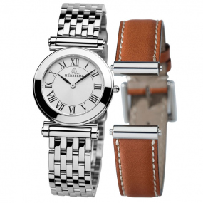 Coffret montre Michel Herbelin Antares bracelet Interchangeable acier et cuir - COF.17443/B01GO