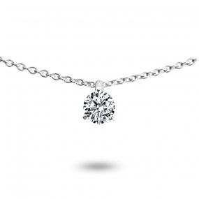 Collier diamant 0.10 ct Or Jaune 1.2g Ivanna