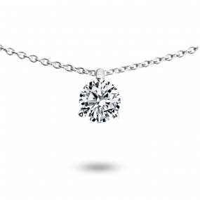 Collier diamant 0.25 ct Or Jaune 1.3g Oriane