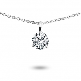 Collier diamant 0.25 ct Or Jaune 1.4g Leya