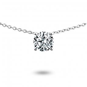 Collier diamant 0.35 ct Or Blanc 3g Lurilla