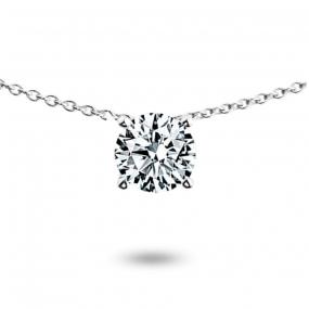 Collier diamant 0.40 ct Or Blanc 3g Violaine