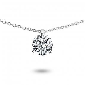 Collier diamant 0.52 ct Or Jaune 1.4g Irène