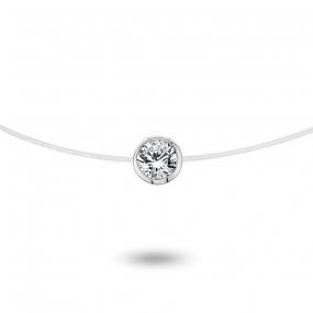 Collier diamant Nylon 0.05 ct serti clos 0.38g Hannah