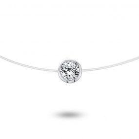 Collier diamant Nylon 0.10 ct serti clos 0.44g Jasmine