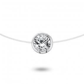 Collier diamant Nylon 0.30ct serti clos 0.56g Héloïse