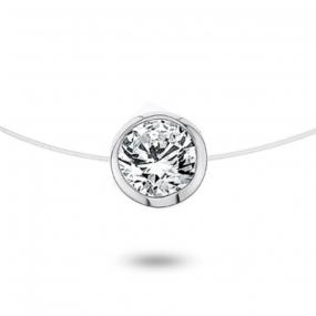 Collier diamant Nylon 0.50ct serti clos 0.7g Kristina