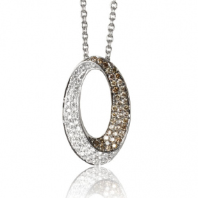 Collier diamant Or Blanc 0.37 ct Hermione -33.07993.003