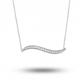 Collier diamant tendance Or Blanc 0.21 ct Alessandra - P4730FMPWACY0