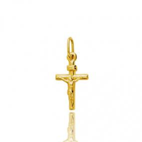 Croix Christ cruxifié  Or Jaune Coralie