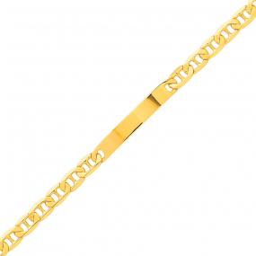 Gourmette en or jaune maille marine 4.5mm - 9.35g