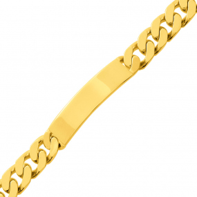 Gourmette homme or jaune 10mm - 66.9g