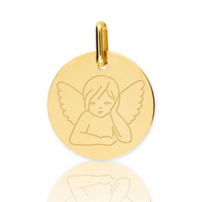 Médaille ange Or Jaune 15 mm Tufouma - XR1515