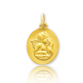 Médaille ange Or Jaune  Alexane