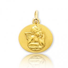 Médaille ange Or Jaune  Aleyna