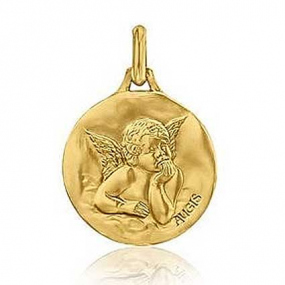 Médaille ange Or Jaune Augis Emeline3600021600