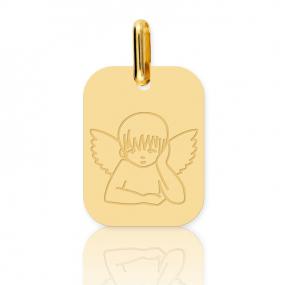 Médaille ange Or Jaune  Tufouma - XR1519