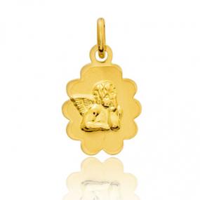 Médaille ange Or Jaune  Violaine