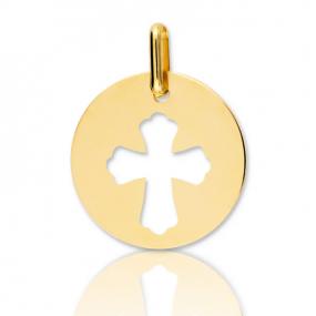 Médaille Croix Or Jaune Auxane