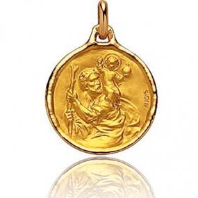 Médaille Saint Christophe Augis Or Jaune 2.4g Amélie - 3500027900