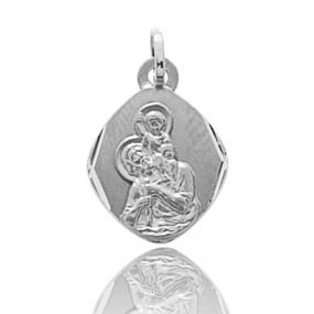 Médaille Saint Christophe Or Blanc 0.85g Océana - 9K20466GR